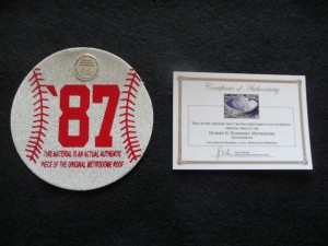 Authentic Teflon Metrodome Roof Commemerative 1987 Printed Baseball Shape