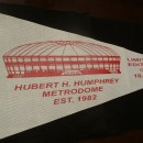 Authentic Teflon Printed Metrodome Roof Pennant (Only 10,000 Printed)