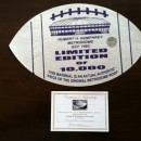 Authentic Teflon Printed Metrodome Roof Football in Purple