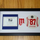 1987 Baseball Piece Custom Matted in Display Case