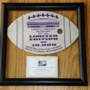 Limited Edition Football Shape in Transparent 'Float' Frame