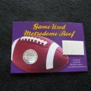 Minnesota Vikings Game Used Metrodome Roof Collectible Card