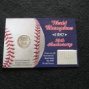 1987 World Series 25th Anniversary Metrodome Roof Collector Card