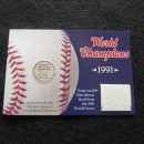1991 World Series Game Used Metrodome Roof Collectors Card