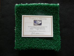 Game Used Metrodome Turf Mini 3″x3″