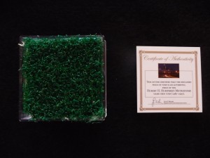 Minnesota Twins Game Used Turf from the Metrodome During 1987 & 1991 World Series