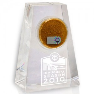 Target Field Game Used Dirt Crystal Display, Inaugural Season Edition