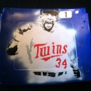 Metrodome Seat Back #1 Kirby Puckett Hand Airbrush Painted